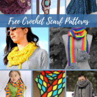 40+ Free Crochet Scarf Patterns from AFC