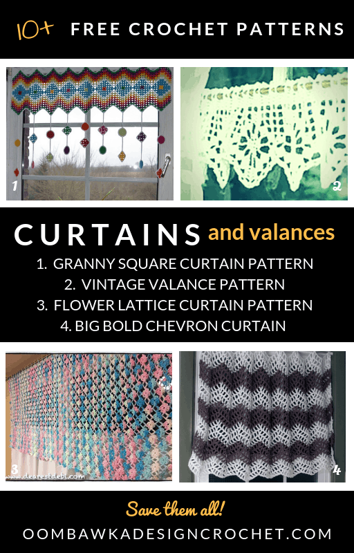 Free Crochet Curtain Patterns and Valance Crochet Patterns