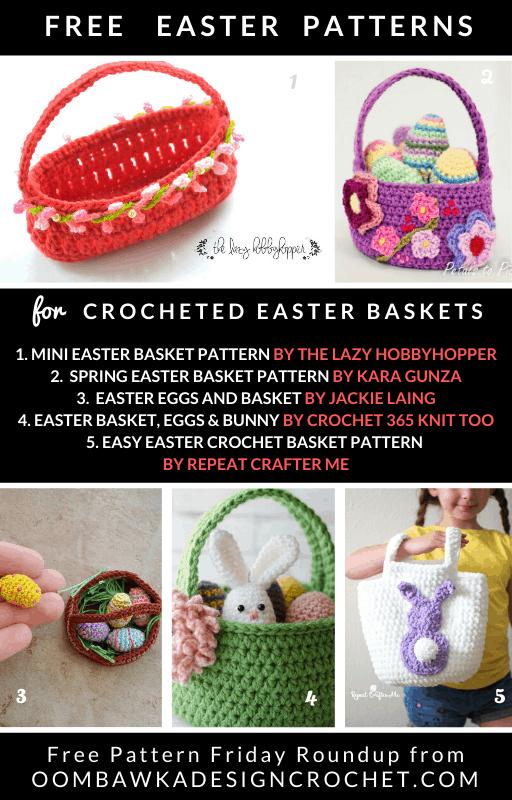 Free Easter Basket Crochet Patterns