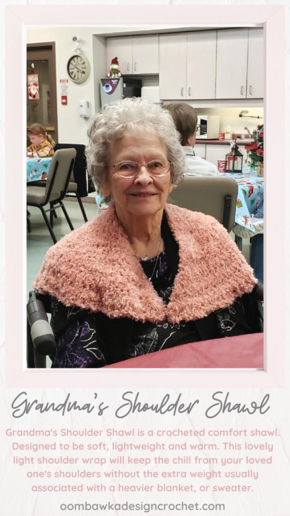 Grandma's Shoulder Shawl Crochet Pattern ODC2020