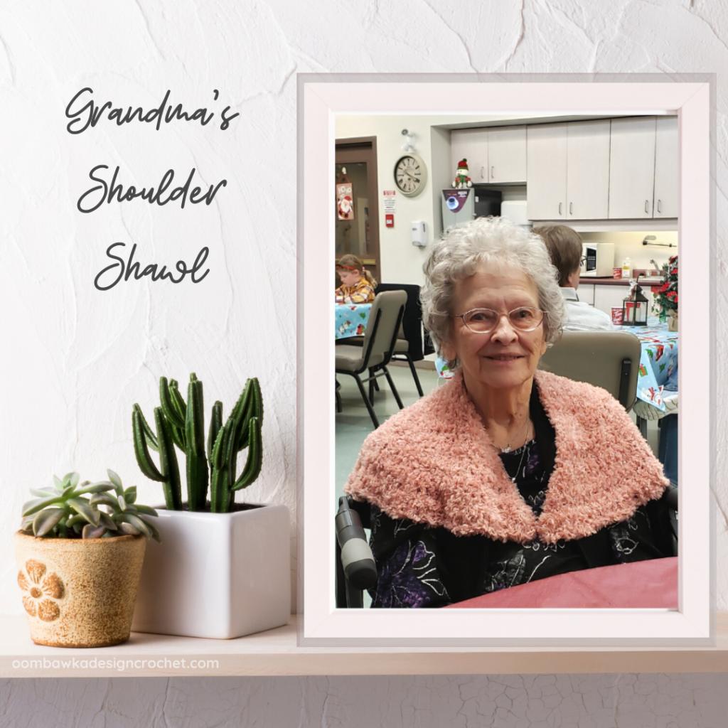 Grandma's Shoulder Shawl Free Pattern Oombawka Design Crochet