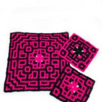 Granny Geo Square from Goddess Crochet featured at Free Pattern Friday with ODC