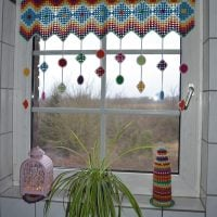 Granny Square Curtain