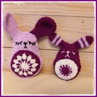 Granny Square Bunny in 2 Variations free Pattern Featured at Wednesday Link Party 339
