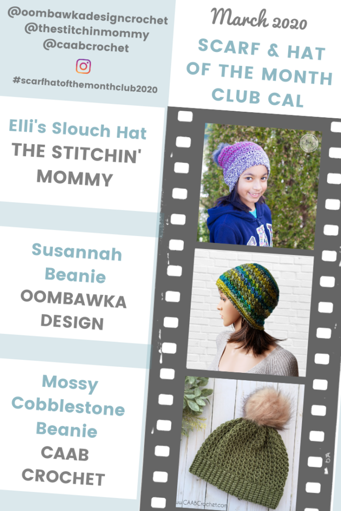 Hat of the Month Club March 2020 Patterns PIN