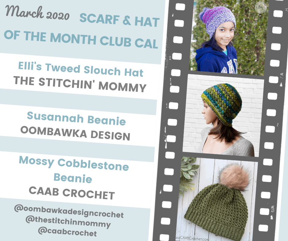 Hat of the Month Club March 2020 Patterns