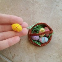 Little Eggs and Easter Basket featured at Free Pattern Friday at OombawkaDesignCrochet