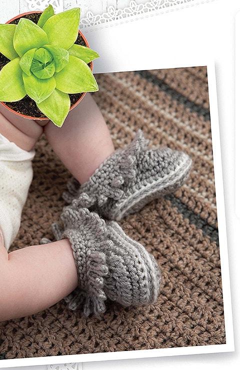 Modern Baby Nursery Booties