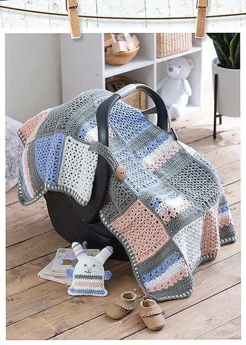 Modern Baby Nursery Car Seat Cover