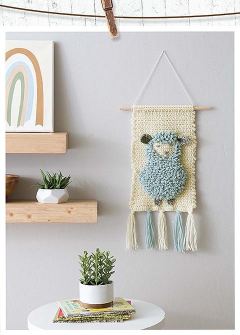 Modern Baby Nursery Lamb Wall Hanging