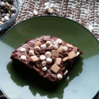 Smores Brownies Recipe Featured at Wednesday Link Party 339