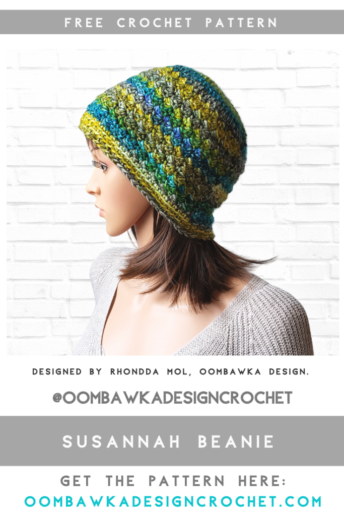 Susannah Beanie Pattern Hat of the Month Club 2020 March ODC2020