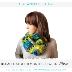 Susannah Scarf Pattern March Scarf of the Month Club CAL 2020