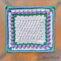 Tulips in the Snow from Pia Thadani featured at Free Pattern Friday with ODC