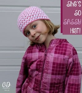 She's So Sassy Hat in Cotton Pattern.