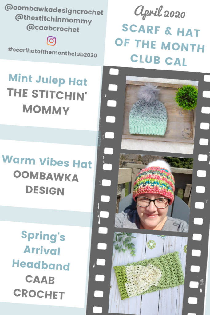 April Hat of the Month Club CAL 2020 PIN