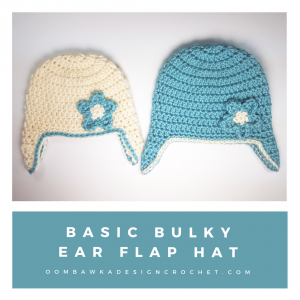 Basic Bulky Ear Flap Hat Free Pattern Preemie to Adult from oombawkadesigncrochet