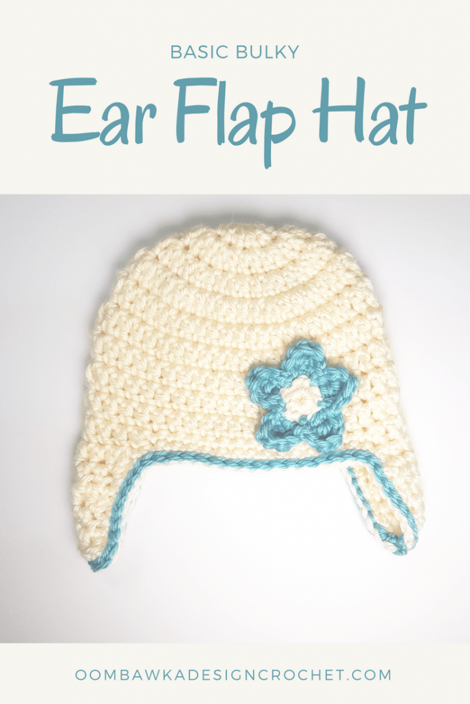 Basic Bulky Ear Flap Hat Free Pattern from Oombawka Design Crochet