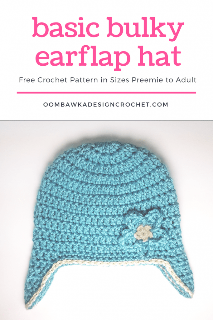Basic Bulky Earflap Hat Free Pattern from Oombawka Design