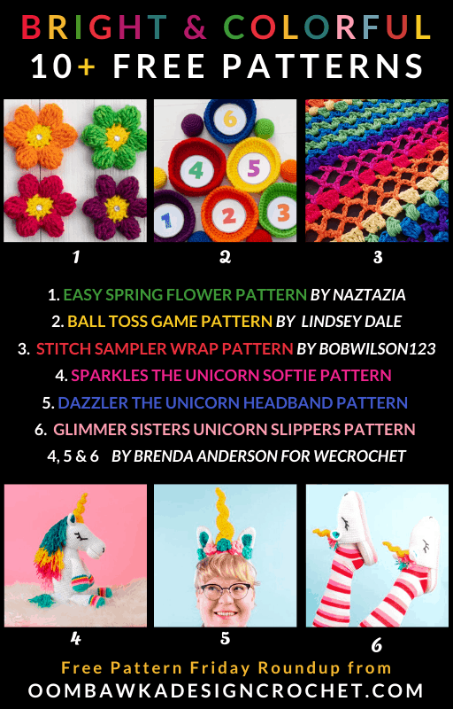Bright and Colorful Free Crochet Patterns Roundup Oombawka Design Crochet