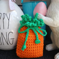 Carrot Soap Cozy or Small Gift Bag by EyeLoveKnots
