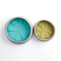 Color Pop Baskets Yarnspirations Free Crochet Pattern Friday