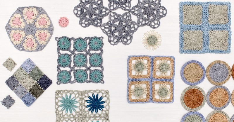 Pages 42 and 43. Crochet Loom Blooms by Haaner Linssen at Interweave, F+W Media