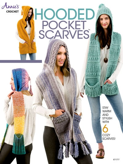 Cover Hooded Pocket Scarves Annies Craft Store Book Review by Rhondda Mol