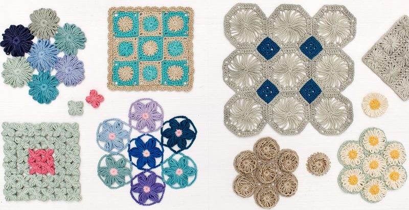 Pages 46 and 47. Crochet Loom Blooms by Haaner Linssen at Interweave, F+W Media