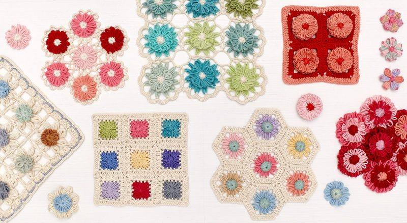40 + 41 Crochet Loom Blooms by Haaner Linssen at Interweave, F+W Media