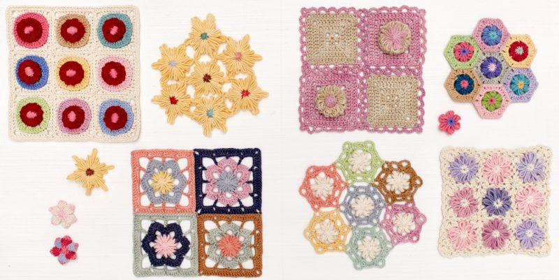 Pages 44 and 45. Crochet Loom Blooms by Haaner Linssen at Interweave, F+W Media