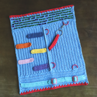 Crocheted-Fidget-Sensory-Lap-Mat at AFCAP - Featured at FCPF with ODC