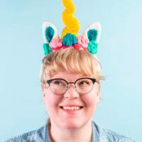 Dazzler the Unicorn Headband Pattern - Free Pattern Friday - Oombawka Design