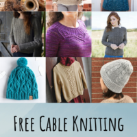 Featured at Party 342 Free Cable Knitting Patterns