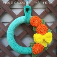 Featured at Party 342 Spring Garden Wreath
