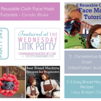 Featured at Party 343 Cloth Face Masks, Coronavirus Keychain and easy Bread Machine Recipes