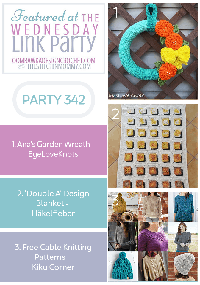Featured at Wednesday Link Party 342 Spring Garden Wreath