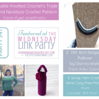 Featuring Triple Strand Necklace Crochet Pattern, Knit Skogafjall Pullover and Wine Cozy FB