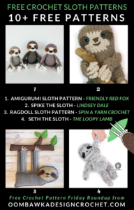 Free Crochet Sloth Patterns Free Crochet Pattern Friday at Oombawka Design
