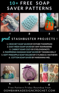 Free Soap Saver Crochet Patterns Stashbuster Roundup