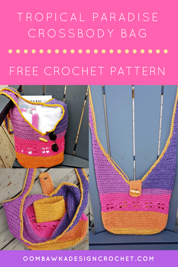 Tropical Paradise Crossbody Bag Free Pattern from Oombawka Design
