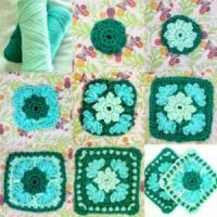 Ice Flower Granny Square - Featured at Wednesday Link Party 345