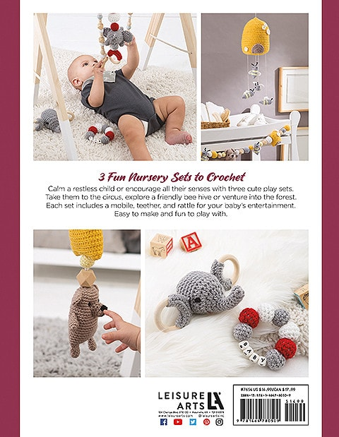 Sensory Baby Toys Back Cover Image Leisure Arts book review Rhondda Mol