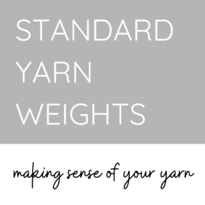 Standard Yarn Weights Cover