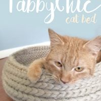 Tabby Chic Cat Bed Rebecca Langford Free Crochet Pattern Friday