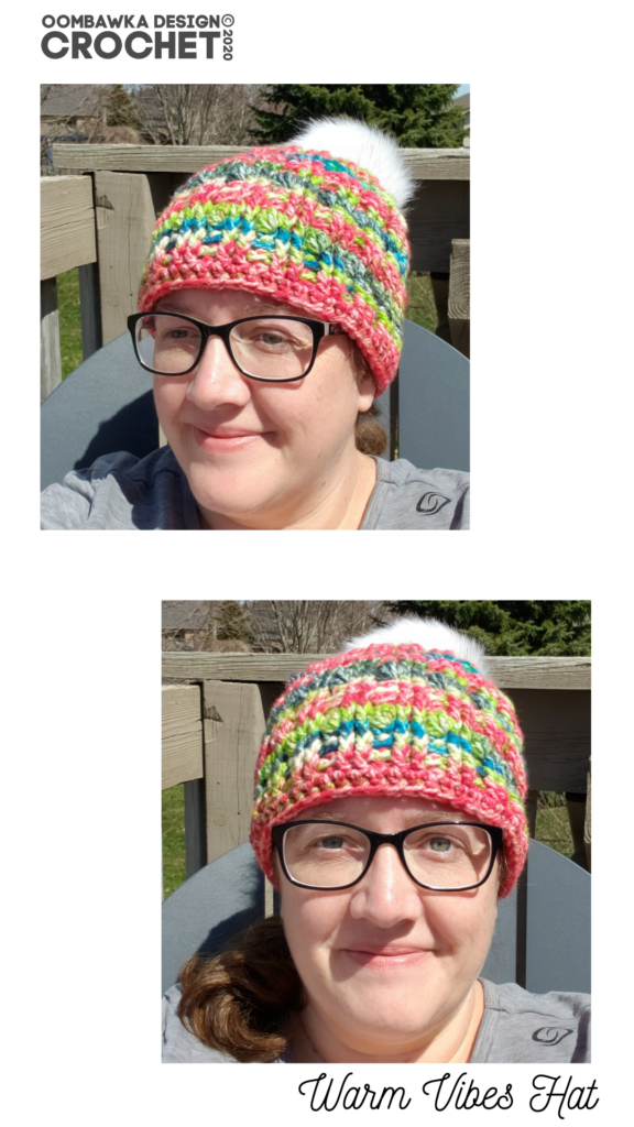 Warm Vibes hat Pattern April 2020 Rhondda Oombawka Design Crochet