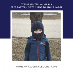 Warm Winter Ski Hat Pattern for Children and Adults
