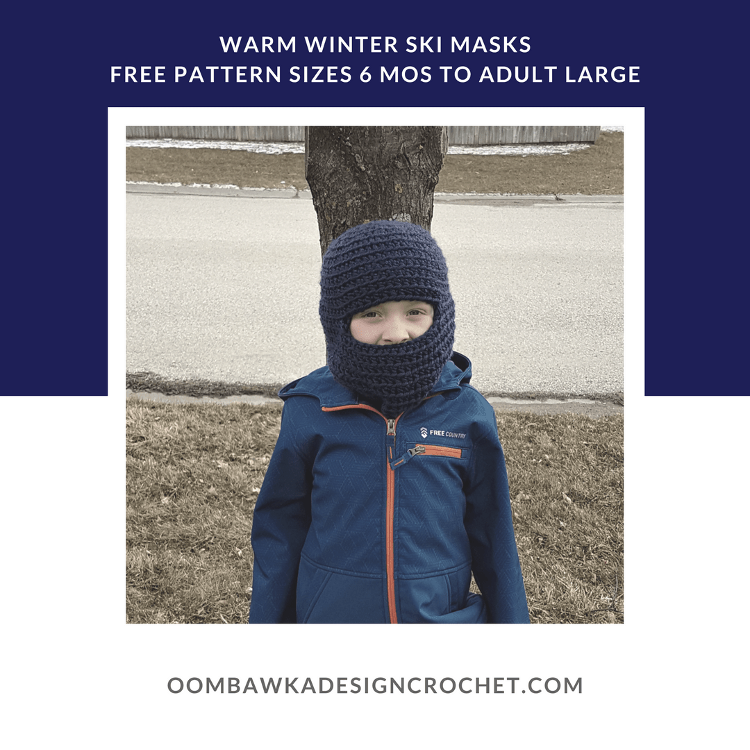 Warm Winter Ski Hats Pattern Oombawka Design sq2