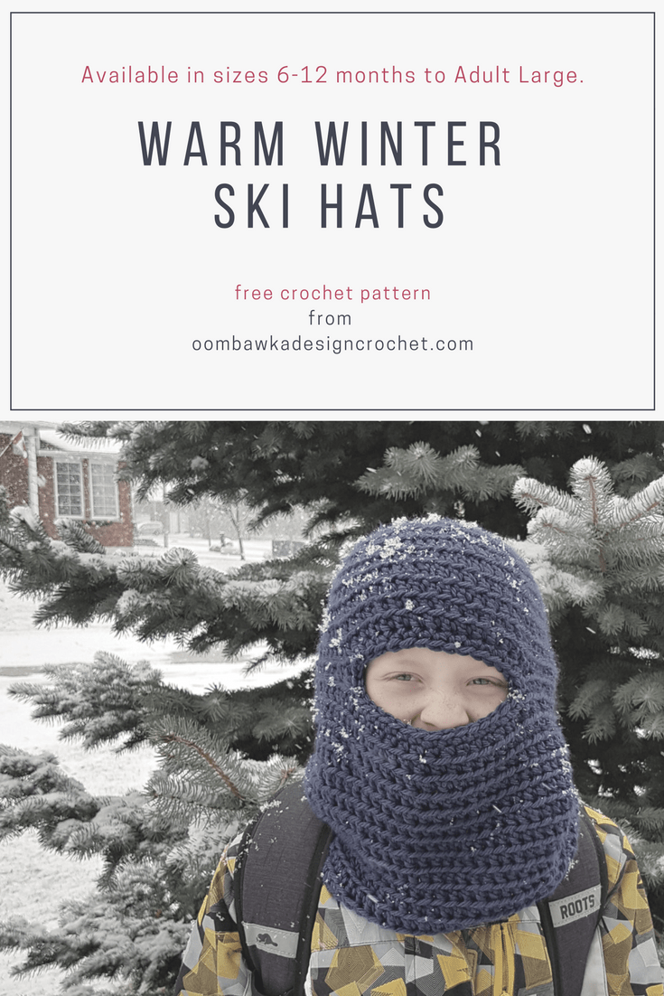 Warm Winter Ski Hats Pattern Oombawka Design