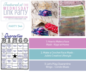 Wednesday Link Party 344 Features 2 DIY Face Masks and Quarantine Bingo